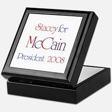 McCain for President - Stacey Keepsake Box