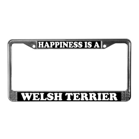 Happiness Is A Welsh Terrier License Plate Frame