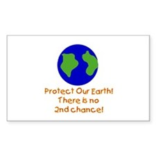 Protect Our Earth Rectangle Decal