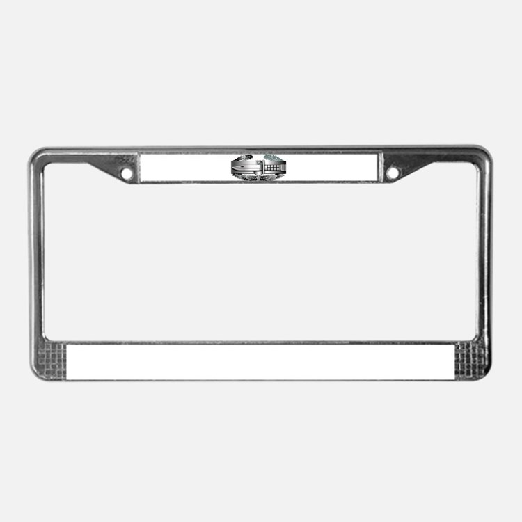Cute Combat License Plate Frame