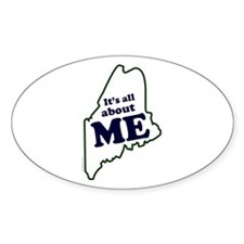 It's All About Maine Oval Decal