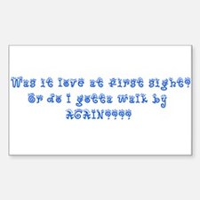 Love at First Sight Rectangle Decal