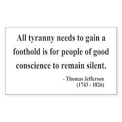 Thomas Jefferson 4 Rectangle Decal