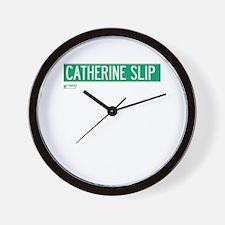Catherine Slip in NY Wall Clock