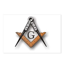 Masonic Square and Compass Postcards (Package of 8