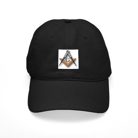 Masonic Square and Compass Black Cap