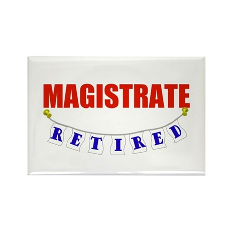 Retired Magistrate Rectangle Magnet (100 pack)