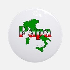 Italian Papa Ornament (Round)