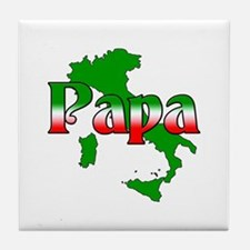 Italian Papa Tile Coaster