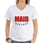 Retired Maid Women's V-Neck T-Shirt