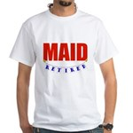 Retired Maid White T-Shirt