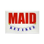Retired Maid Rectangle Magnet