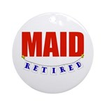 Retired Maid Ornament (Round)
