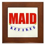 Retired Maid Framed Tile