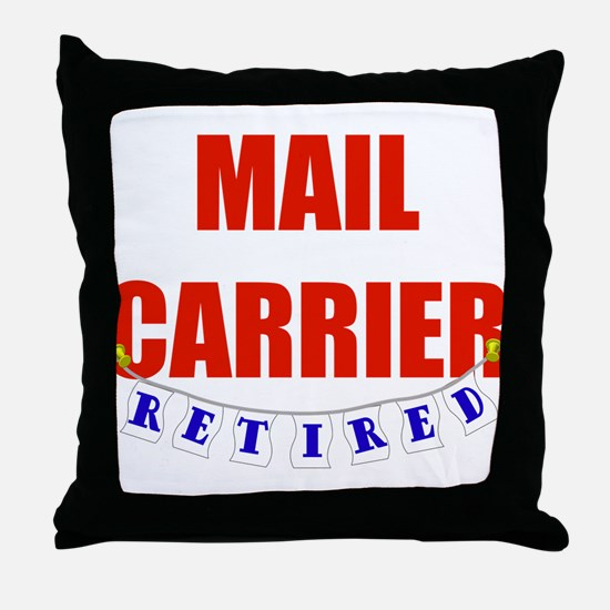 Retired Mail Carrier Throw Pillow