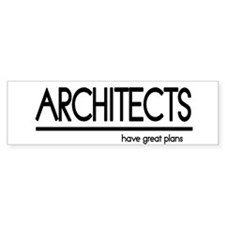 Architect Joke Bumper Bumper Sticker