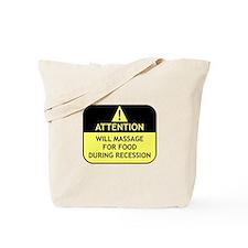 Massage Recession Tote Bag