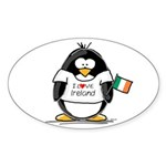 Ireland Penguin Oval Sticker