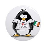 Ireland Penguin Ornament (Round)