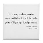 James Madison 2 Tile Coaster