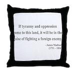 James Madison 2 Throw Pillow