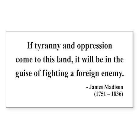 James Madison 2 Rectangle Sticker