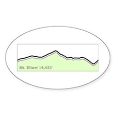 Mt. Elbert 14er Collection Oval Decal