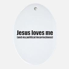 Funny Christian Oval Ornament