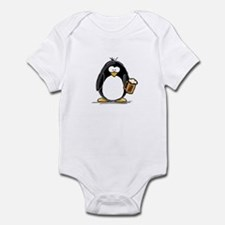 Beer Drinking Penguin Infant Bodysuit
