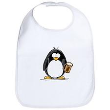 Beer Drinking Penguin Bib