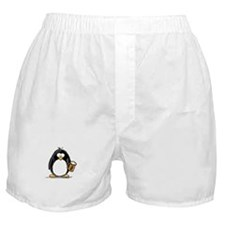 Beer Drinking Penguin Boxer Shorts