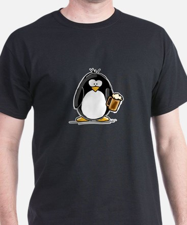 Beer Drinking Penguin T-Shirt