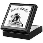 Wanna Wrestle Keepsake Box