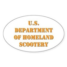 Homeland Scootery Oval Decal