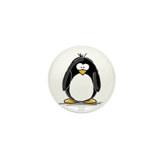 Penguin Mini Button (10 pack)