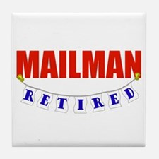 Retired Mailman Tile Coaster