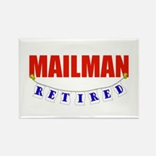 Retired Mailman Rectangle Magnet