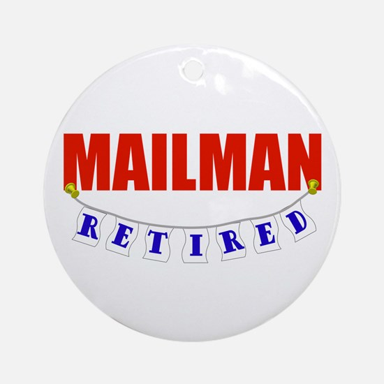 Retired Mailman Ornament (Round)