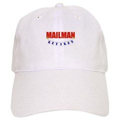 Retired Mailman Baseball Cap