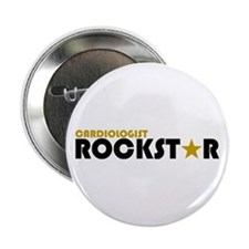 "Cardiologist Rockstar 2 2.25"" Button"