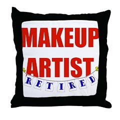 Retired Makeup Artist Throw Pillow