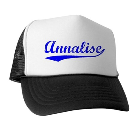Vintage Annalise (Blue) Trucker Hat