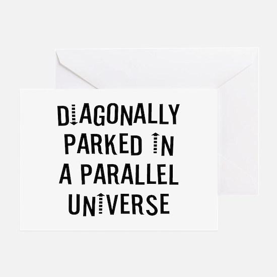 Diagonally Parked Greeting Card