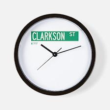 Clarkson Street in NY Wall Clock