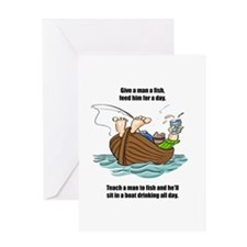 Give a Man a Fish Greeting Card