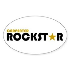Carpenter Rockstar 2 Oval Decal