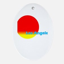 Los Angeles Oval Ornament