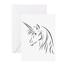 Unicorn in Profile Greeting Cards (Pk of 10)