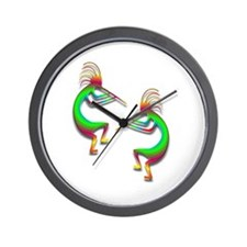 Two Kokopelli #88 Wall Clock