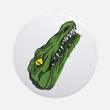 Crocodile Head Ornament (Round)